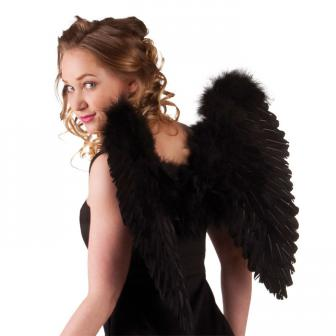 Einfarbige Flügel 50 cm-schwarz