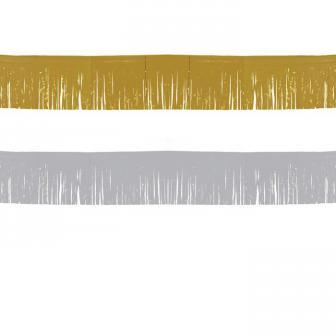 Einfarbige Fransen-Girlande 6 m