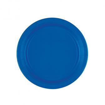 Einfarbige kleine Pappteller 18 cm 8er Pack-royalblau