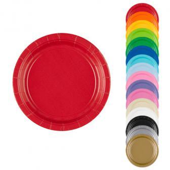 Einfarbige kleine Pappteller 18 cm 8er Pack
