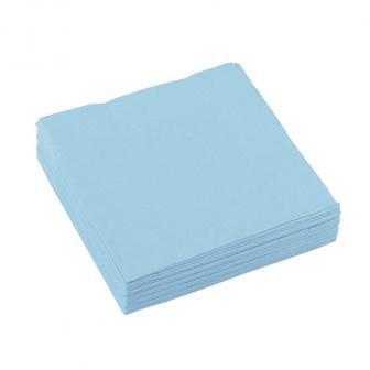 Einfarbige kleine Servietten 20er Pack-pastell-blau