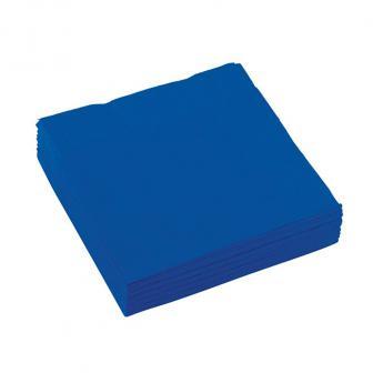Einfarbige kleine Servietten 20er Pack-royalblau