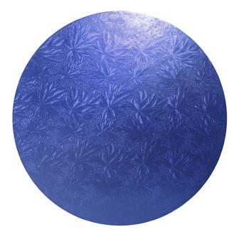 Einfarbige Kuchenplatte 25,5 cm-blau