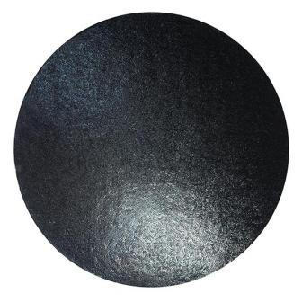 Einfarbige Kuchenplatte 25,5 cm-schwarz