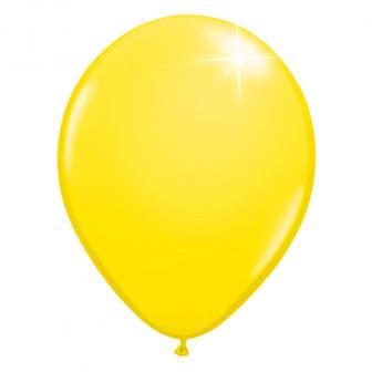 Einfarbige metallic Luftballons-10er Pack-gelb