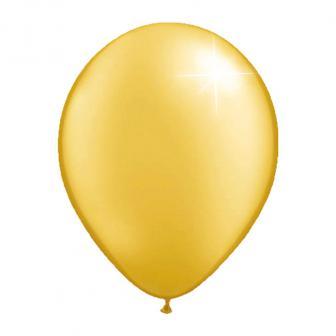 Einfarbige metallic Luftballons-10er Pack-gold
