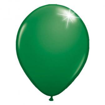 Einfarbige metallic Luftballons-10er Pack-grün