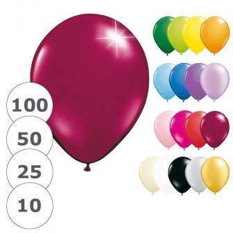 Einfarbige metallic Luftballons