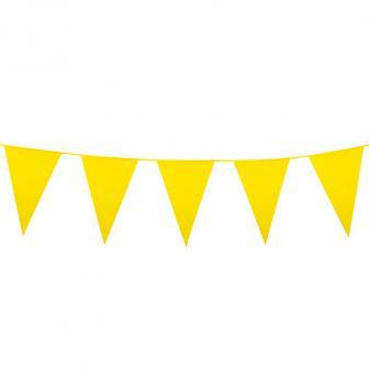 Einfarbige mini Wimpel-Girlande 3 m-gelb