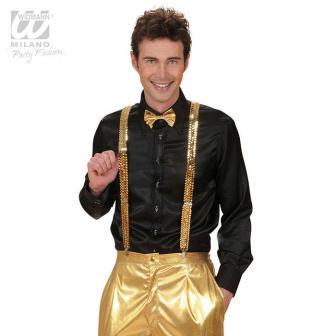"Einfarbige Pailletten-Hosenträger ""Showstar""-gold"
