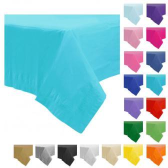 Einfarbige Papier-Tischdecke 137 x 274 cm