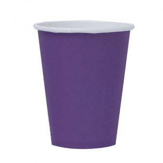 Einfarbige Pappbecher 266 ml 8er Pack-lila