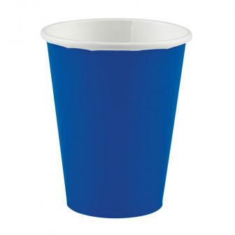 Einfarbige Pappbecher 266 ml 8er Pack-royalblau