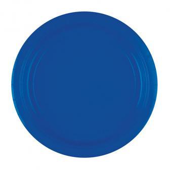 Einfarbige Pappteller 23 cm 8er Pack-royalblau