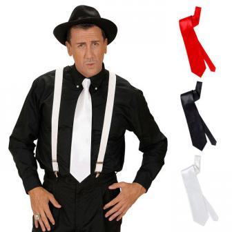 Einfarbige Satin-Krawatte