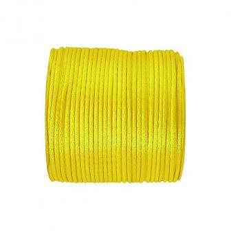 Einfarbige Satinband Kordel 25 m-gelb