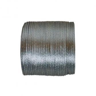 Einfarbige Satinband Kordel 25 m-grau