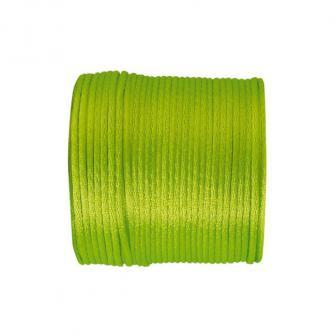 Einfarbige Satinband Kordel 25 m-grün