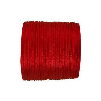 Einfarbige Satinband Kordel 25 m-rot