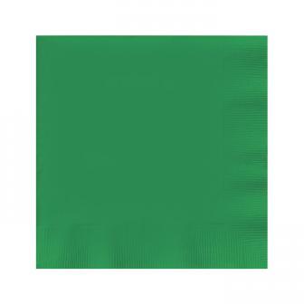 Einfarbige Servietten 20er Pack-smaragdgrün