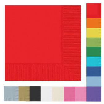 Einfarbige Servietten 20er Pack