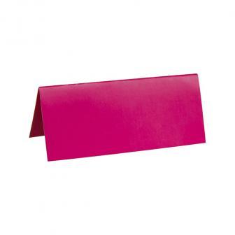 Einfarbige Tischkarten 10er Pack-pink