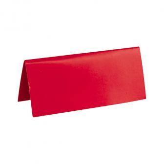 Einfarbige Tischkarten 10er Pack-rot