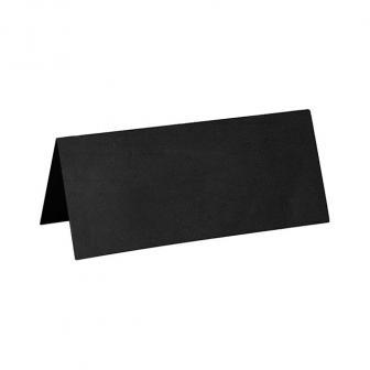 Einfarbige Tischkarten 10er Pack-schwarz