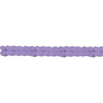 Einfarbige Wabenpapier-Girlande 360 cm-lila