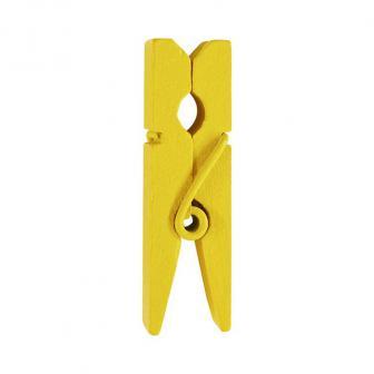 Einfarbige Deko-Klammern 12er Pack-gelb