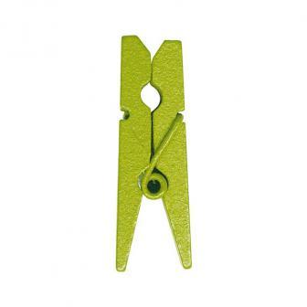 Einfarbige Deko-Klammern 12er Pack-grün