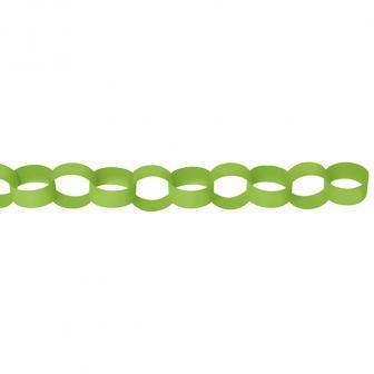 Einfarbige Ketten-Girlande 3,9 m-hellgrün