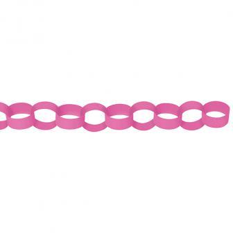 Einfarbige Ketten-Girlande 3,9 m-pink