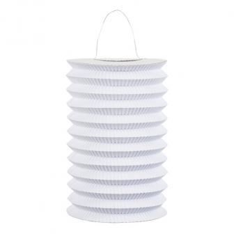 Einfarbige Laterne 16 cm -weiß