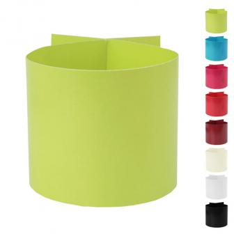 Einfarbige Papp-Serviettenringe 6er Pack