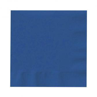 Einfarbige Servietten 20er Pack-marineblau