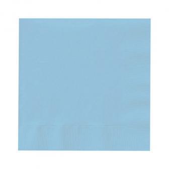 Einfarbige Servietten 20er Pack-pastellblau