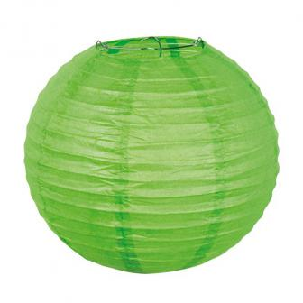 """Einfarbiger Lampion """"Farbenpracht"""" 25 cm-grün"""