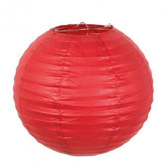 "Einfarbiger Lampion ""Farbenpracht"" 25 cm-rot"