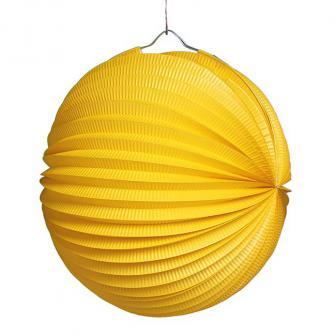 """Einfarbiger Lampion """"Farbenrausch"""" 25 cm-gelb"""