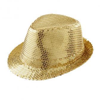 Einfarbiger Pailletten-Hut -gold