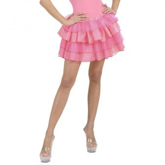 Einfarbiger Stufen-Rock 35 cm-pink
