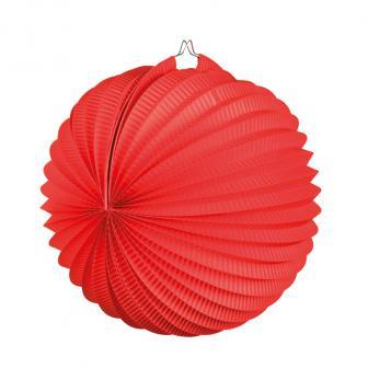 Einfarbiger Lampion 23 cm-rot