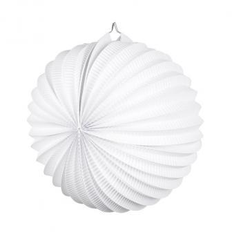 Einfarbiger Lampion 23 cm-weiß