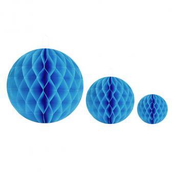 Einfarbiger Wabenpapier-Ball 2er Pack-türkis-20 cm