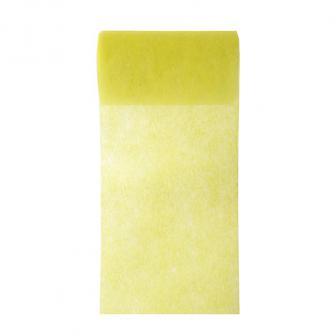 Einfarbiges Deko-Vlies Tischband 10 m-gelb