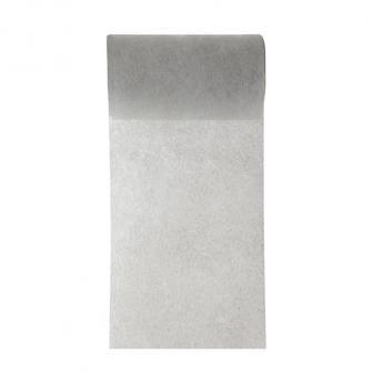 Einfarbiges Deko-Vlies Tischband 10 m-grau