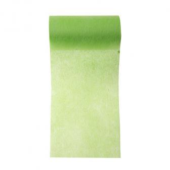 Einfarbiges Deko-Vlies Tischband 10 m-grün