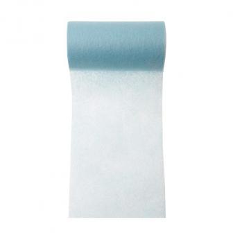 Einfarbiges Deko-Vlies Tischband 10 m-hellblau