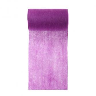 Einfarbiges Deko-Vlies Tischband 10 m-lila